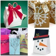 Easy ideas to make a holiday gift bag.