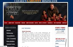 Huf Boxing is Canada's largest boxing gym. Some of the best Canadian boxers come from Huf Boxing. Wisevu built this website on a content management system, so it is editable without the need of knowing any programming or scripting languages.