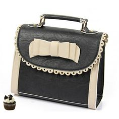 So adorable bag in black and ivory.  Retro vintage style:-)