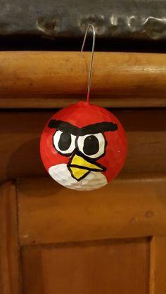 Angry Bird Golf Ball Ornament