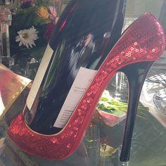 High heel wine holder