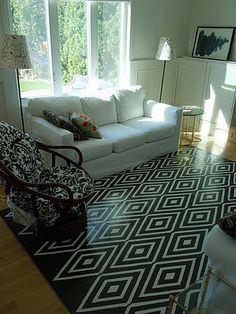 How-to DIY painted floor mat