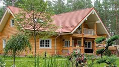Wooden Villa from Finland – Finnish luxury log home provided by Rovaniemi Log House Exterior Colors, Exterior Design, Interior And Exterior, Cabin Homes, Log Homes, Home Pictures, Deco, House Colors, Beautiful Homes