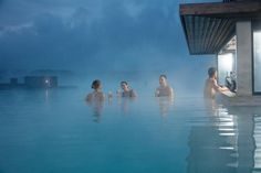 Enjoy the in-water lagoon bar🍹😋 Spa, Blue Lagoon, Happy Weekend, Marina Bay Sands, Iceland, Water, Travel, Ponds, Destinations