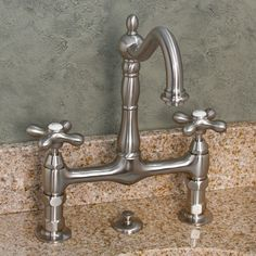 "8"" Bridge Lavatory Faucet with Metal Cross Handles"