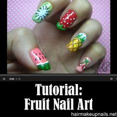 Nail Art Diy Nails, Cute Nails, Manicure, Beauty Nails, Diy Beauty, Fruit Nail Art, Toe Nail Designs, Nail Tutorials, Perfect Nails