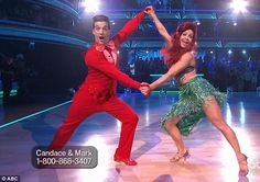 Lobster hands: Candace Cameron Bure and Mark Ballas danced to Under The Sea from The Little Mermaid