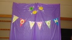 London's name banner at the Candy Land First Birthday Party
