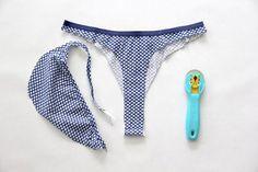 402ad9d9087 Convert regular underwear into thong Granny Panties