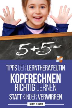Richtig Kopfrechnen lernen mit Hilfe der Zehnerzerlegung Learn how to do mental arithmetic with the help of tens decomposition: tips from the learning therapist. Don't confuse your children! Because mental arithmetic is not written arithmetic! Natural Parenting, Kids And Parenting, Parenting Hacks, Kids Sand, Learn To Count, Arithmetic, Sewing Box, School Hacks, In Writing