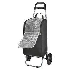 The Cart Cooler is the perfect all-around tote on wheels. The tote is fully removable from the trolley and has two large storage pockets on each side and a large zippered opening for easy accessibility. Lined with an insulated foil interior, it also has a removable heat-sealed, water-resistant PVC liner that holds up to 15 quarts or 37 12-oz. canned beverages. It sits on a sturdy, lightweight folding trolley complete with large, extra wide wheels and a stability bar to keep the tote upright…