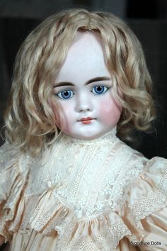 Beautiful Simon and Halbig  Bisque Child, 719, with Closed Mouth