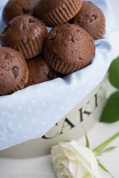Chocolate and Olive Oil muffins – Tasty Mediterraneo