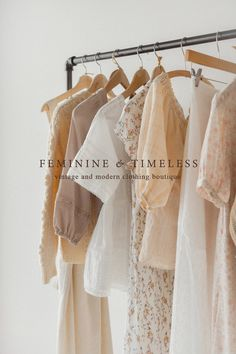 Pretty and feminine clothing inspired by the past for modern day romantics. Flat Lay Photography, Clothing Photography, Fashion Photography, Vintage Inspired Outfits, Vintage Outfits, Instagram Feed Ideas Posts, Boutique Interior, Brown Aesthetic, Web Design
