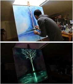 This Artist's Incredible Paintings Transform Into Glow-In-The-Dark Masterpieces…