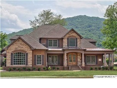 future house! love the stone accents!