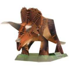 Dinosaur Papercraft: Simply print out some pages, follow the instructions, and make a 3D triceratops ( 9 other dinos)! Best of all... It's FREE