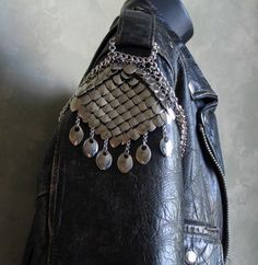 leather jacket detail