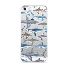 Love sharks? Then this phone case is for you! Several hand painted sharks, including a Great White, Mako, Bull, Black Tip Reef, Tiger and Hammerhead, swim across the back of your phone in this case.