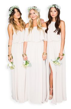 Beautiful bridesmaids dresses - Show Me Your Mumu Heather Chiffon Halter Gown Beautiful Bridesmaid Dresses, Prom Dresses, Formal Dresses, Wedding Dresses, Halter Gown, Chiffon Gown, A Line Gown, A Line Skirts, Wedding Styles