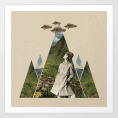 Goodbye blue sky Art Print by Sammy Slabbinck  - $19.99