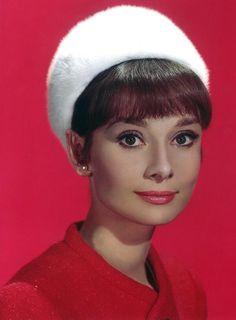 Beautiful Audrey bringing back the pillbox