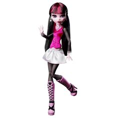 Take monster design to a whole new level with this spooky-cool customization station! Girls can create the ultimate stylish ghoul with the color-change doll, wig, and fashions! You Monster, Monster High, Frilly Skirt, Cool Poses, Pink Boots, Monster Design, Doll Shop, Doll Stands, Black Mesh
