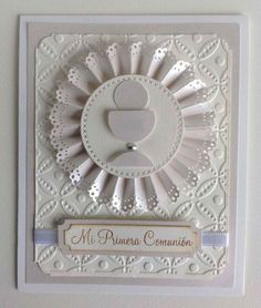 First Communion Cards, First Communion Invitations, First Holy Communion, Confirmation Cards, Baptism Cards, Christian Cards, Shaped Cards, Cricut Cards, Embossed Cards