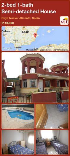 2-bed 1-bath Semi-detached House in Daya Nueva, Alicante, Spain ►€113,500 #PropertyForSaleInSpain