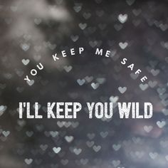 You keep me safe I'll keep you wild love quote