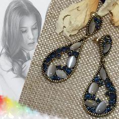 Cualquier Look, Azules, Invierno 2016, Piedras, Pendientes, Coral, 2017, Stones, Earrings