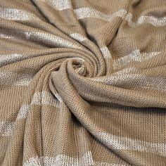 Striped 1/2 inch Truffle Sweater Knit Fabric by by StylishFabric