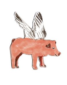 Flying Pig Magnet — Sian Zeng – Imaginative Homeware for Kids and Adults alike