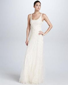 Chantel Beaded Evening Gown,...