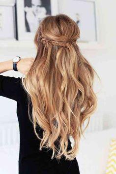 coiffure simple et rapide pour cheveux blonds