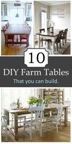 Farmhouse Tables {farmhouse friday}-from The Everyday Home
