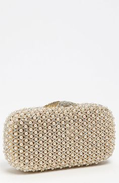 Natasha Couture Pearl Caged Clutch available at #Nordstrom. This clutch is stunning...and will be a lovely heirloom you can use for formal events for DECADES.