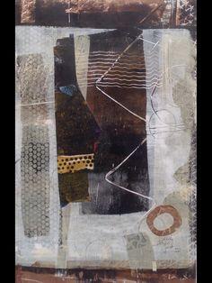 Gelli Print and collage by Dorothy Ganek 18x12  www.dorothyganek.com