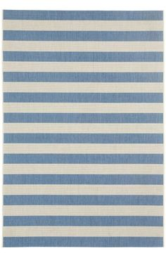 Capel Elsinore Stripe Blueberry Rug | Outdoor Rugs
