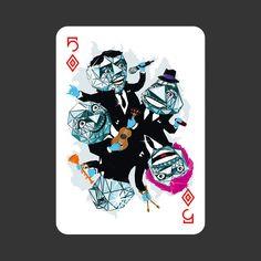 """""""52 Aces"""" es un proyecto que reúne a 52 grandes ilustradores para crear una baraja de cartas donde cada carta esta diseñada por un ilustrador diferente"""