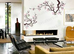 Large Japanese Cherry Blossoms Tree Branches Wall by decalyourwall, $40.95