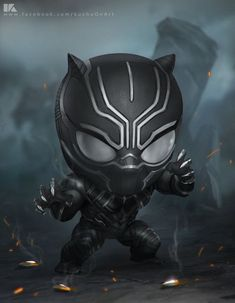 HeroChan — Chibi Black Panther Created by Surasak Jaipuk Black Panther Marvel, Black Panther Art, Chibi Marvel, Marvel Dc Comics, Marvel Heroes, Marvel Avengers, Avengers Series, Black Panthers, Hulk