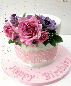 Pasteles cumpleaños Birthday Wishes For A Friend Messages, Happy Birthday Flowers Wishes, Birthday Cake Gif, Happy Birthday Wishes Cake, Happy Birthday Daughter, Birthday Pins, Happy Birthday Quotes, Happy Birthday Images, Happy Birthday Greetings