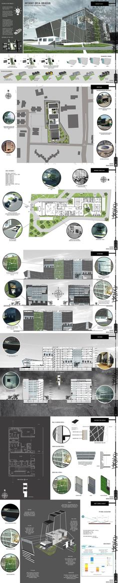 Akshay urja bhavan - net zero office building - sem vi b architecture board, architecture Education Architecture, Architecture Board, Architecture Student, Architecture Portfolio, Architecture Drawings, Concept Architecture, Landscape Architecture, Landscape Design, Architecture Design