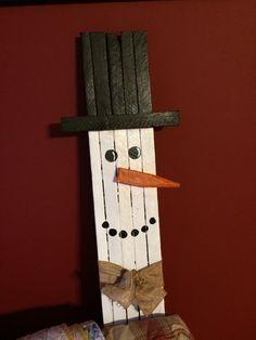 Tobacco stick snowman by tonyasmemorylane on Etsy
