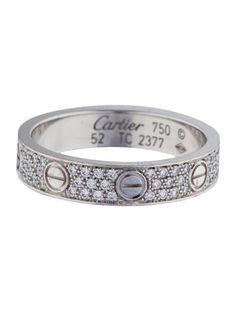 Cartier Diamond-Paved Love Wedding Band