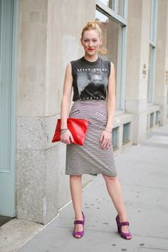 Cute band T look from Refinery 29