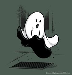 Most adorable little ghost Monroe. Playful Illustrations by Flying Mouse Funny Illustration, Illustrations, Funny Doodles, Cute Ghost, Funny Ghost, Humor Grafico, Funny Puns, Halloween Art, Happy Halloween