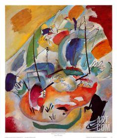 Improvisation No. 31, Sea Battle, c.1913 Print by Wassily Kandinsky at Art.com
