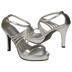 Touch Ups by Benjamin Walk Ursula Shoes (Silver) - Women's Shoes - 5.5 M